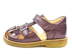 Angulus sandal lavender shine with buckles and velcro