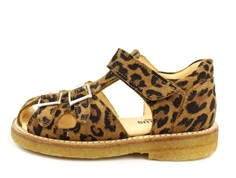Angulus sandal leopard with buckles and velcro