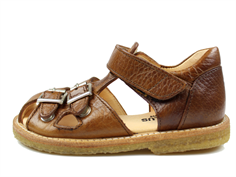 Angulus sandal medium brown with buckles and velcro
