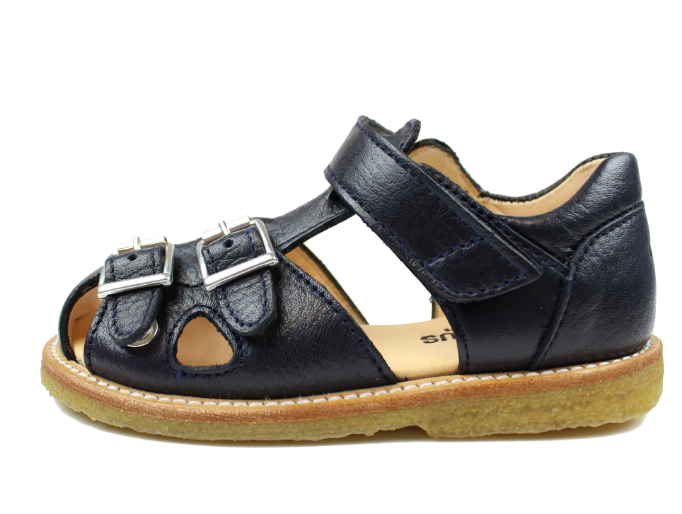 Angulus sandal navy with buckles and velcro (narrow)