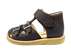 Angulus sandal dark brown with buckles and velcro