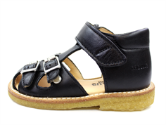 Angulus sandal black with buckles and velcro