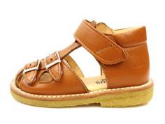 Angulus sandal cognac with buckles and velcro