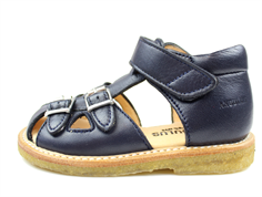 Angulus sandal navy with buckles and velcro