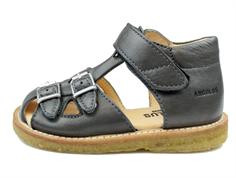 Angulus sandal anthracite gray with buckles and velcro