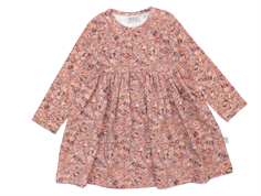 Wheat dress Otilde cameo brown flowers