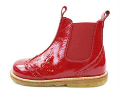 Angulus ancle boot dark red with lacquer