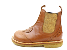 Angulus ancle boot cognac/gold with heart
