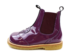 Angulus ancle boot purple lacquer with heart