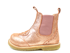 Angulus ancle boot dark copper glitter with heart