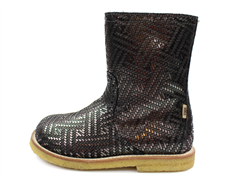 Bisgaard winter boot gray metal with a zipper and TEX