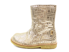 Bisgaard winter boot gold metal with a zipper and TEX