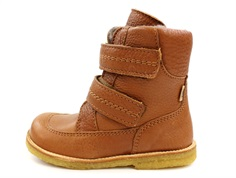 Bisgaard winter boot cognac with velcro and TEX