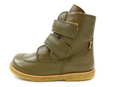 Bisgaard winter boot green with velcro and TEX