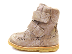 Bisgaard winter boot beige with velcro and TEX