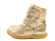 Bisgaard winter boot gold metal with velcro and TEX