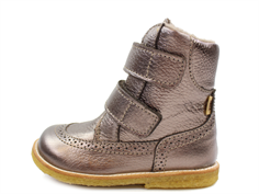 Bisgaard winter boot stone grain with velcro and TEX