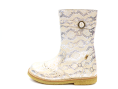 Bisgaard winter boot silver snake with zipper and TEX