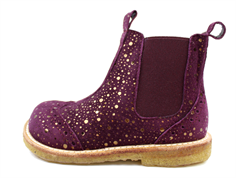 Angulus ancle boot purple dot with zip