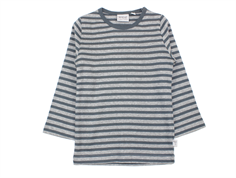 Wheat t-shirt melange gray stripes