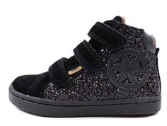 Bisgaard winter sneaker black glitter with velcro and TEX