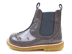 Angulus ancle boot dark gray patent leather