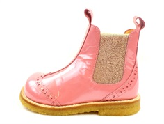 Angulus ancle boot rose pink with lace pattern