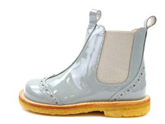 Angulus ancle boot gray blue lacquer