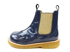 Angulus ancle boot navy/gold lace pattern