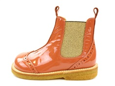 Angulus ancle boot dusty orange/gold lace pattern