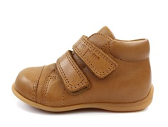 Pom Pom toddler shoe camel dark with velcro