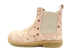 Pom Pom ancle boot rose bronze dot with elastic