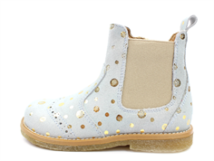 Pom Pom ancle boot jade gold dot with elastic