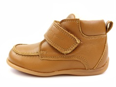 Pom Pom toddler shoes camel with woollining