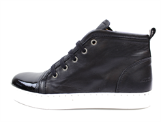 Angulus sneaker black with zip and laces