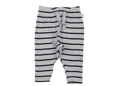 Wheat leggings Nicklas melange gray navy stripes