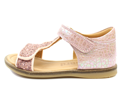 Bisgaard sandals shell glitter with velcro