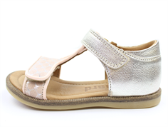 Bisgaard sandals rose dots with velcro