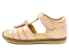 Bisgaard sandals rose gold metallic with butterfly