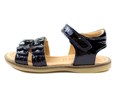 Bisgaard sandals navy blue lacquer with velcro
