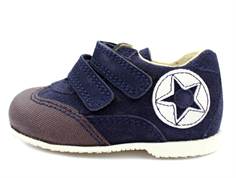 Arauto RAP shoes blue suede with velcro