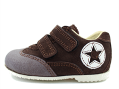 Arauto RAP dark brown shoes with velcro
