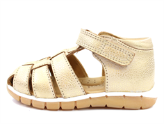 Bisgaard sandals gold with velcro