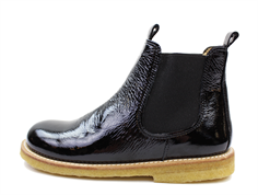 Angulus ancle boot black lacquer (narrow)