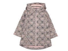 Wheat transition jacket/soft shell jacket Frozen rose powder print