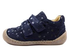 f0ce9a222f6d Pom Pom sneaker navy blue dot with velcro