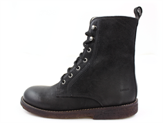 Angulus winter boot black with a zipper and laces (narrow)