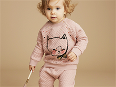 Soft Gallery Alexi sweatshirt gattino misty rose with cat