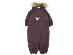 Wheat snowsuit Nickie eggplant