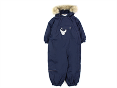 Wheat snowsuit Nickie navy plain